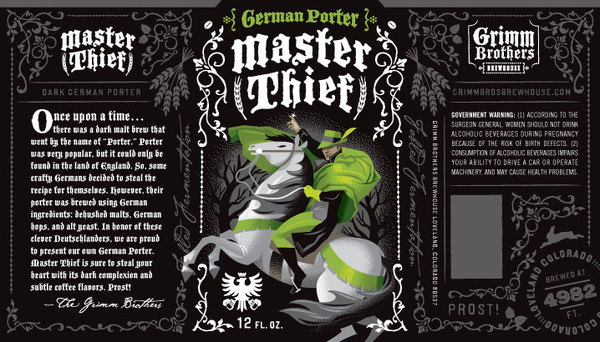 Grimm Brothers' Master Thief #packaging #beer #bottles #label