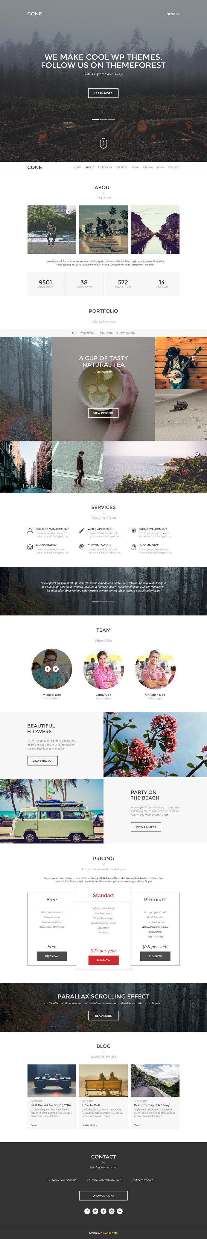 CONE - Onepage PSD Template #web