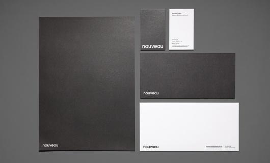 Hunt Studio — Nouveau Identity #print #design #graphic #identity