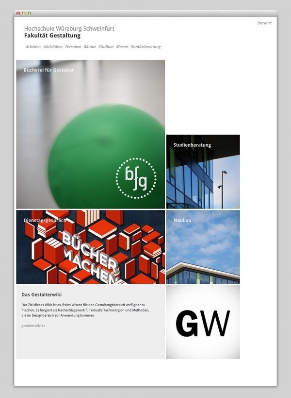 Permalink: http://mindsparklemag.com/?websites/2012/06/16/fakultaet-gestaltung.html #site #based #design #website #grid #layout #web