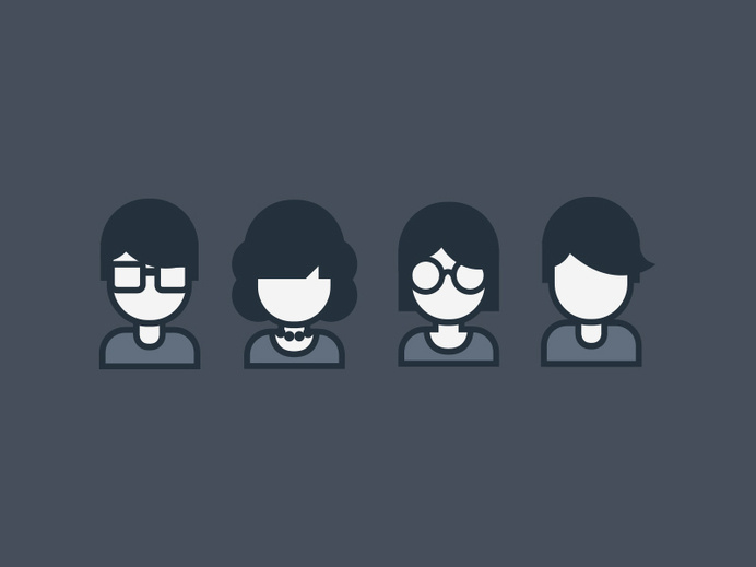 People Icon Set #icon #people #human #picto #symbol #face #avatar