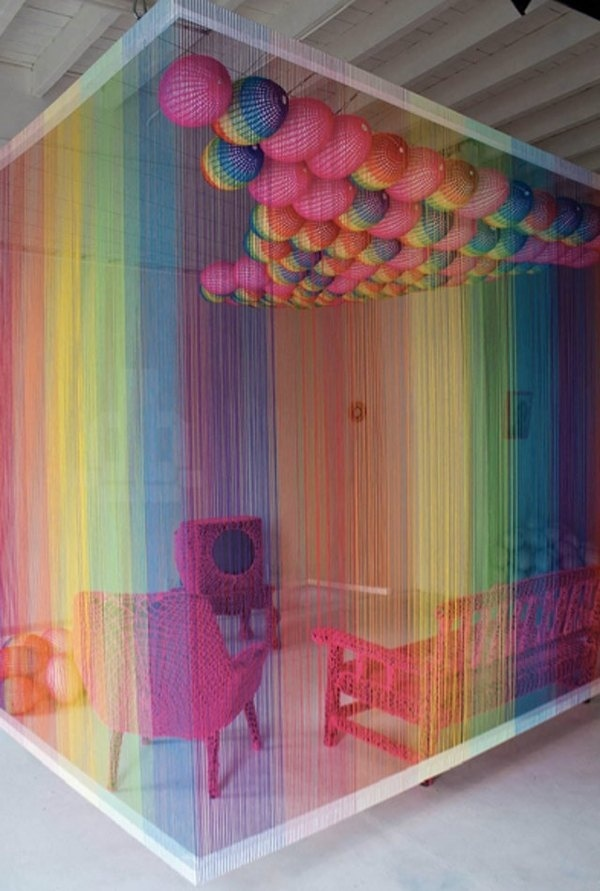 CJWHO ™ (The Rainbow Room by Pierre Le Riche The Rainbow...) #creative #installation #crafts #design #colors #art #rainbow