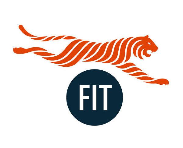 Pentagram Fit Athletics #logo #tiger #pentagram