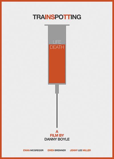 Trainspotting #minimal #poster #film #movie #orange #life #cartel #drugs #trainspotting #sandra #guerrero #Murcia #Spain
