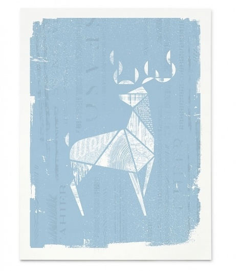 01_Wonder #deer #white #print #screen #blue #animal