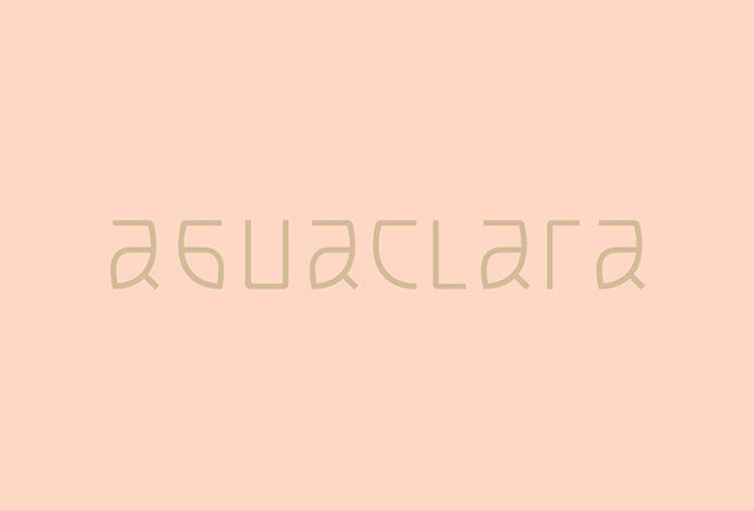 Aguaclara by Infinito #typography #logotype #logo #mark