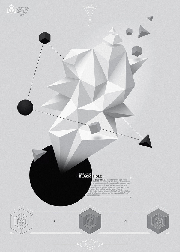 Black Hole, by Matías Petroli #inspiration #creative #abstract #white #design #graphic #black #illustration #and