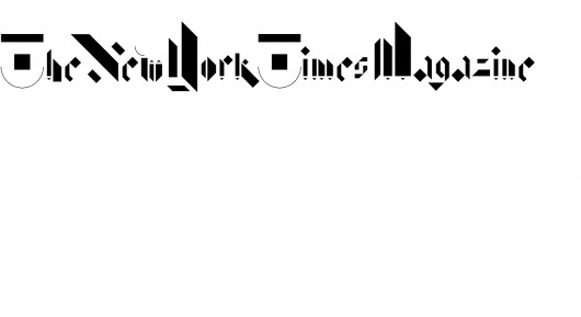 New York Times Magazine image 1 #non #times #format #typography #york #new