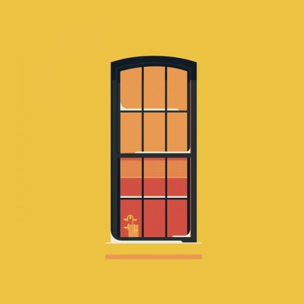 windows of NYC #illustration #york #nyc #windows #new