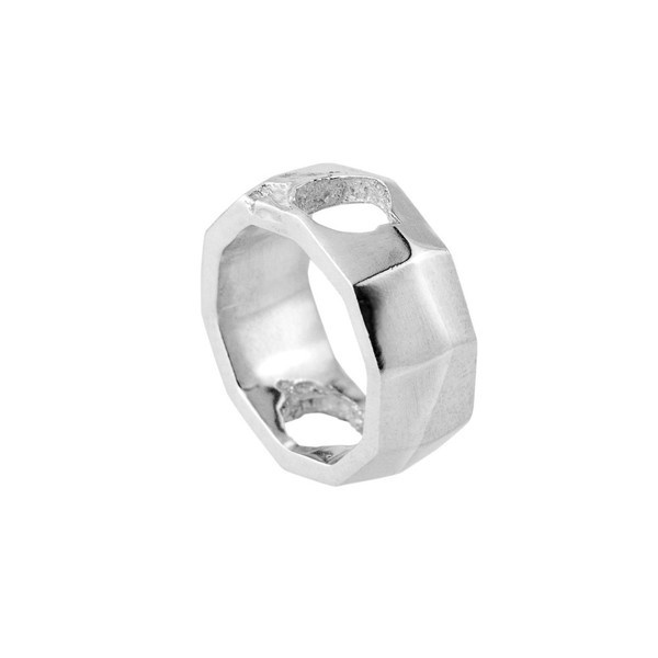 Via Napoli Ring silver | SMITH/GREY #mens #accessories #white #b&w #silver #damaged #black #texture #jewellery #men #jewelry #and #fashion #ring #grey