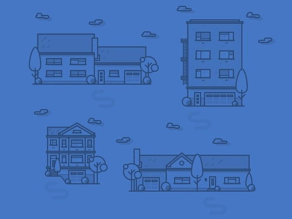 Houses #illustration