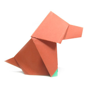 How to make an easy origami dog (http://www.origami-make.org/howto-origami-dog.php)