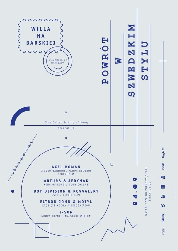 Return in the Swedish style on the Behance Network #party #poster #return #postcard #macov #club