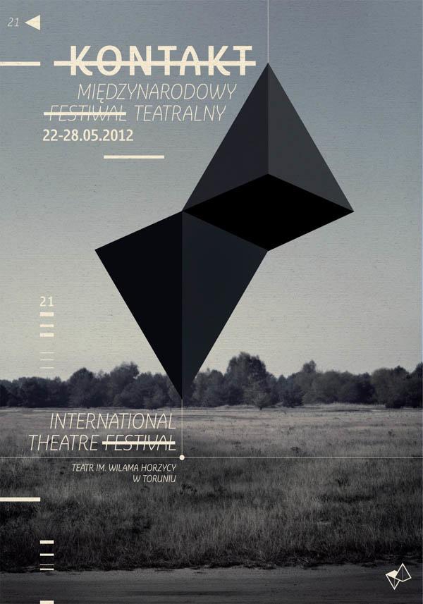 Kontakt – International Theatre Festival – Visual Identity by Radek Staniec
