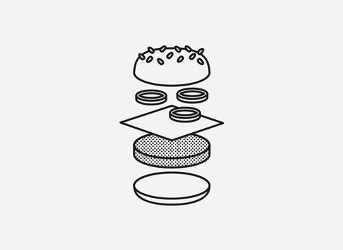 Fast Food by Josep Duran Frigola #vector #design #food #digital #illustration #minimal #art