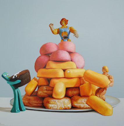Pat Hobaugh Really_ #toys #paint #twinkies #art