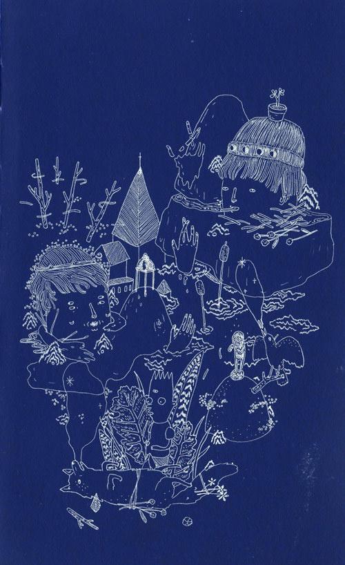 aaronbillings 01 #line #white #illustration #blue #drawing