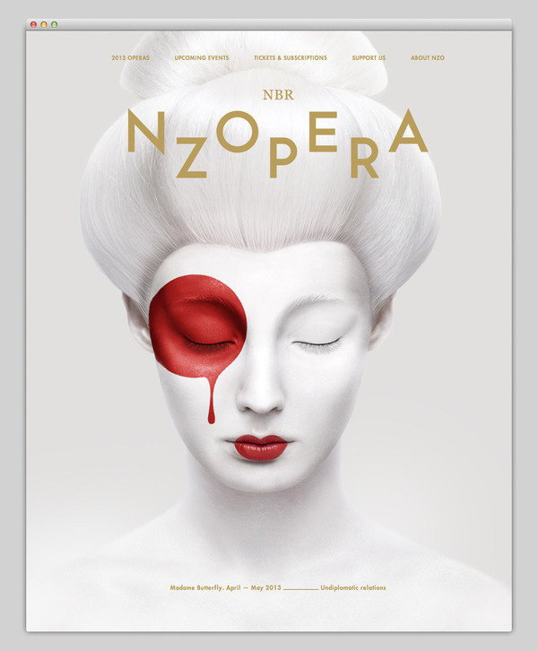 NZ Opera #website #layout #design #web