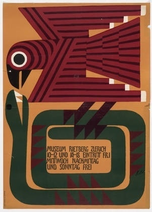 FFFFOUND! | MoMA | The Collection | Ernst Keller. Museum Rietberg Zurich. 1955 #eagle #and #poster #snake