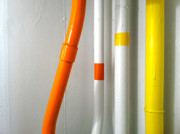 Oculog— #abstract #photo #yellow #orange #colorful #pipes