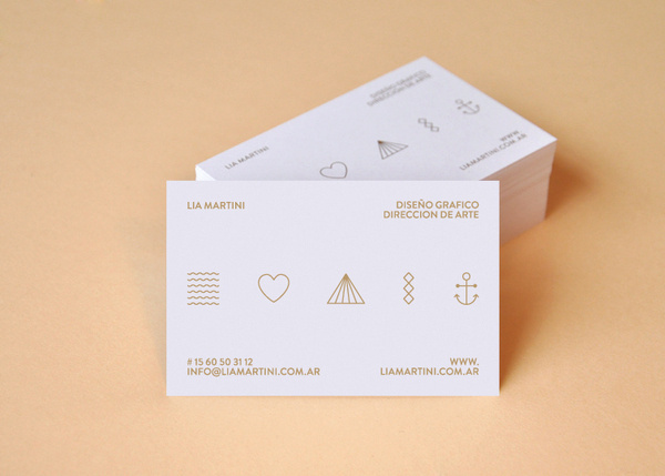 Personal Card on the Behance Network #card #business