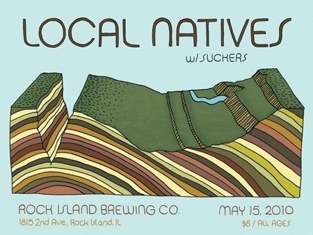 Chris Gregori » Local Natives #chris #gregori #design #colorado #illustration #gigposter #poster