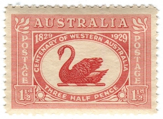 All sizes   Australia postage stamp: Centenary of Western Australia   Flickr - Photo Sharing! #stamp #swan #vintage #type #australia #typography