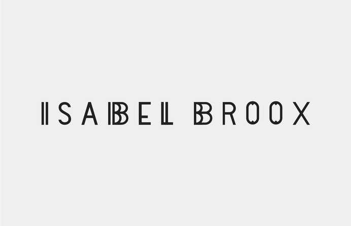 Isabel Broox identity from Studio Beuro #studio beuro #identity #ident #branding #logo #black #box #outline #isabel broo