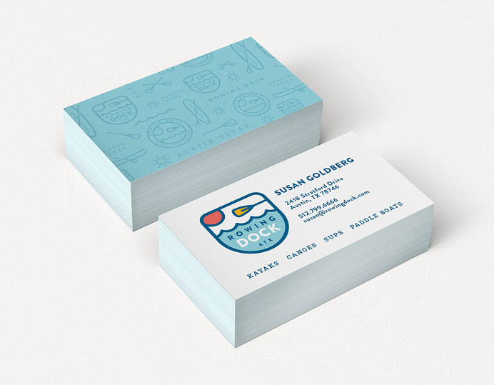 Brand New: New Logo and Identity for Rowing Dock by Sputnik Creative #creative #business #card #design #brand #identity