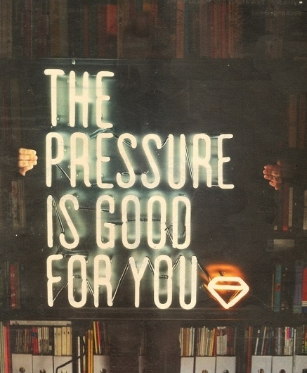 The Pressure #sign #neon #poster #typography