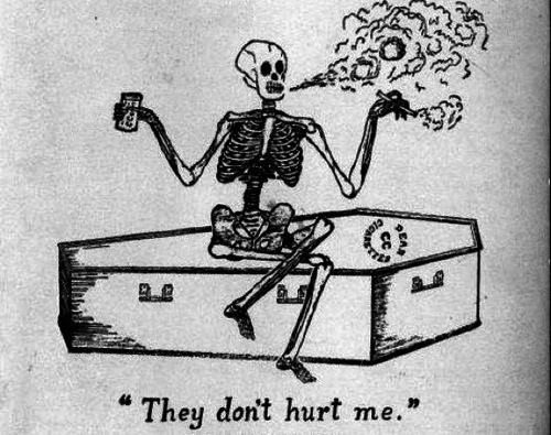 YIMMY'S YAYO™ #old #skeleton #illustration #vintage #humor