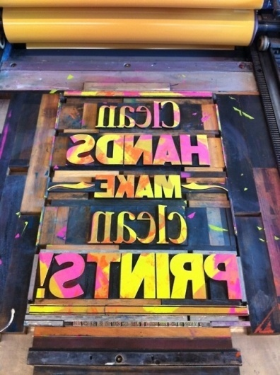 Tumblr #colors #letterpress #typography