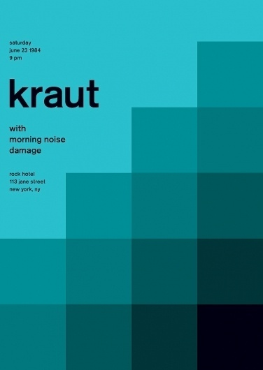 kraut at rock hotel, 1984 - swissted #graphics #swiss #swissted #poster