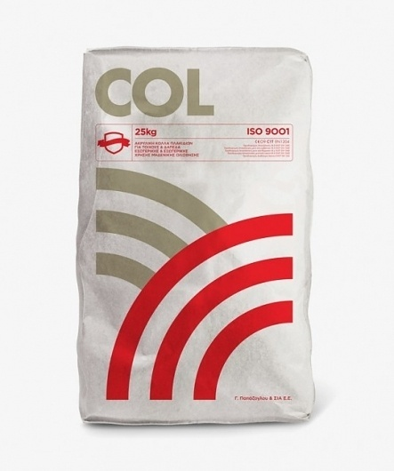 G. Papazoglou & Co. : Lovely Package . Curating the very best packaging design. #tiles #col #packaging #adhesive #industrial #minimal #typography
