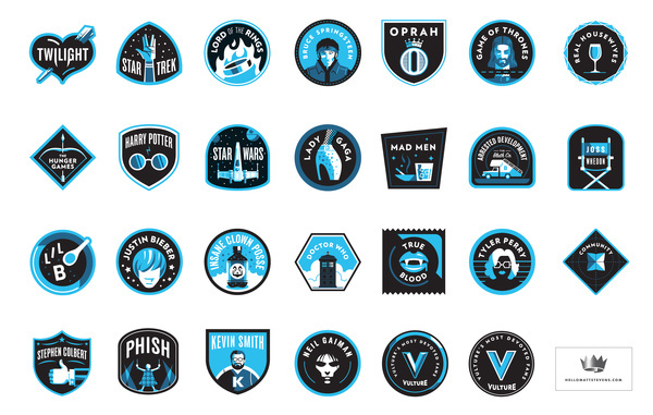Vulture_full_set #illustration #badge