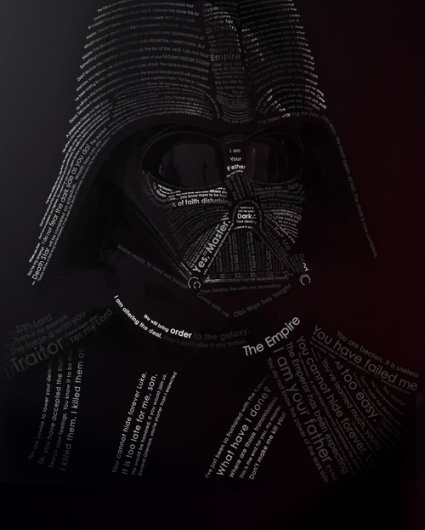 The Dark Side of Typography #darth #vader