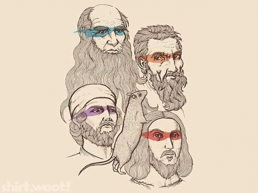 "Amazing TMNT T-Shirt – ""Shh, The Rat Is Our Patron"" | The Retroist #tmnt #ninja #illustration #mutant #turtles #teenage"