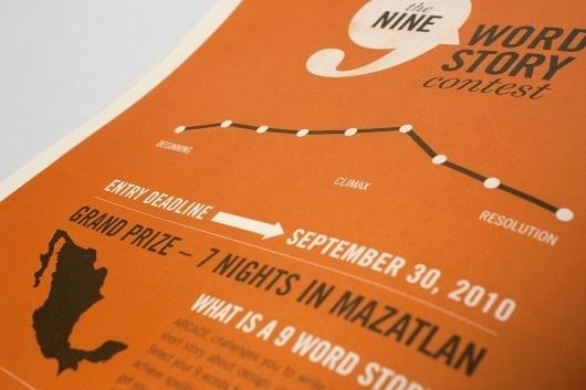 The Nine Word Story Contest on Branding Served #infographics #orange #white #black