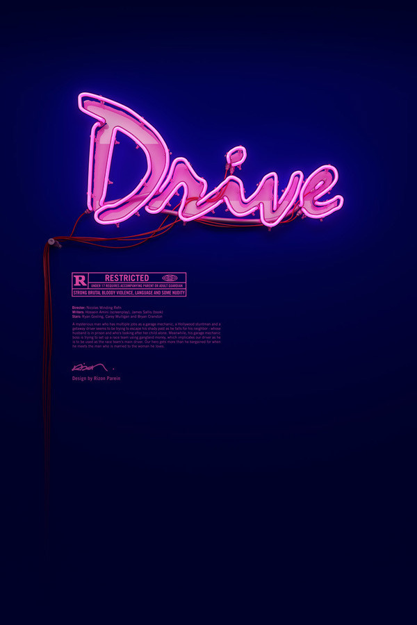 DRIVE Poster Blue #signage #drive #poster #neon