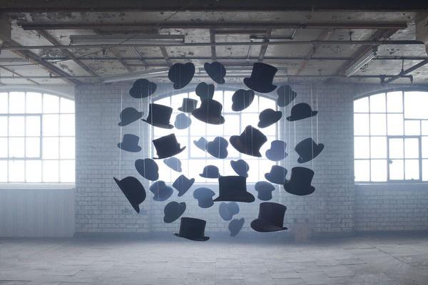 Nicola Yeoman #loft #yeoman #installation #exhib #exhibition #hat #circle #light
