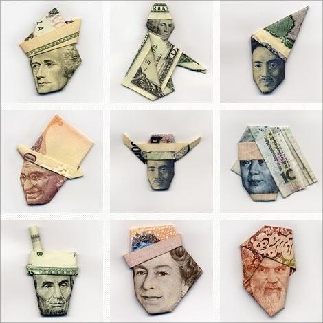 Moneygami: The art of paper money folding #folding #paper #money