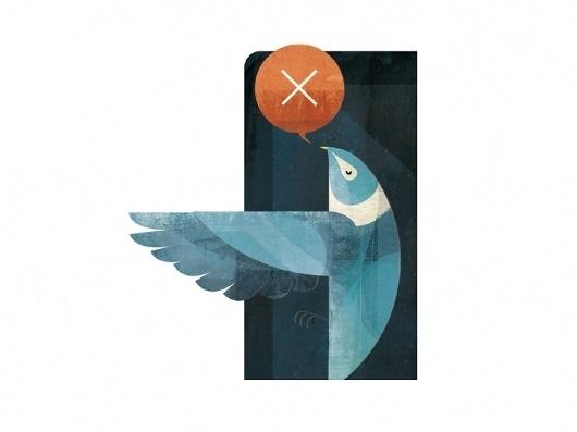 Andrew Lyons #texture #bird #illustration #lyons #andrew
