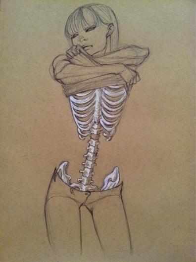 art life #illustration #skeleton