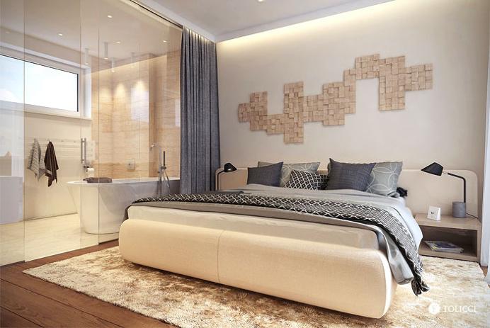 Airy Residence in Bratislava by Tolicci Design Studio - bedroom, bedroom design, bed, bedroom decorating, #bedroom