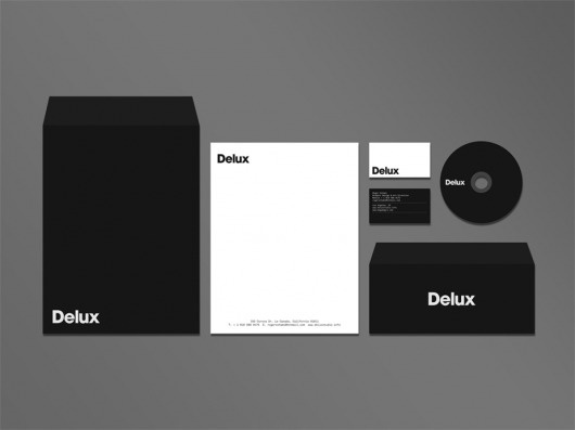 Delux Studio — Works of Roger Schami #white #stationary #design #graphic #black #and #minimalist