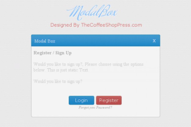 Simple login screen with modal box Free Psd. See more inspiration related to Design, Box, Blue, Red, Psd, Login, Screen, Simple, Horizontal, Modal and Freebies on Freepik.