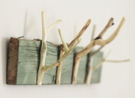 Little Projectiles #hook #wood #stick #nature #hanger #eco #green