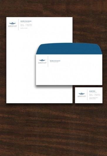 Doug Sheets|Aeroflot #business #card #cabinet #identity #envelope #letterhead