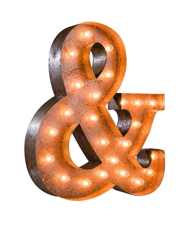 Ampersand Sign Gilt Home #ampersand #light #marquee