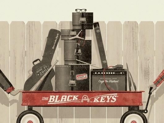 Rock Poster Design: From Concept Development to Execution Skillshare #gig #black #poster #keys